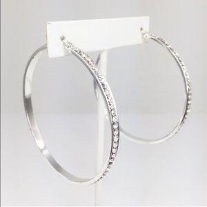 """Adia Kibur Jewelry - Adia Kibar Large 2.5"""" Crystal Hoops"""