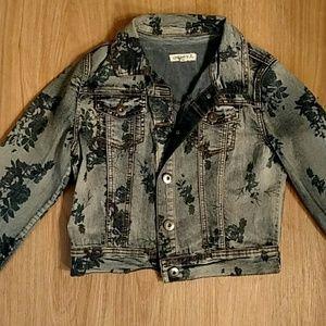Jean jacket (floral, cropped)