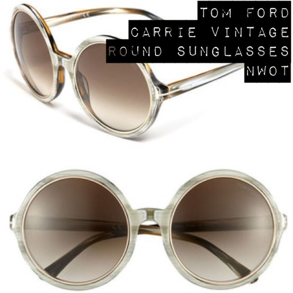 f3123ad260b5 NWOT Tom Ford Carrie Vintage Round Sunglasses 🌟.  M 5783c87cf0137debc7009d49. Other Accessories ...