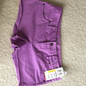 Woman's purple semi-fitted Under Armour shorts