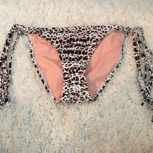 Leopard print bikini bottom