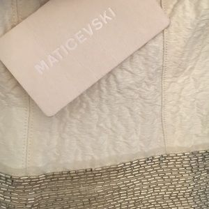 Maticevski Dresses - Silk and Metallic beaded Maticevski Dress