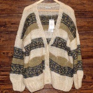 Mes Demoiselles Sweaters - MES DEMOISELLES PARIS Cardigan Slouchy Thermal Top