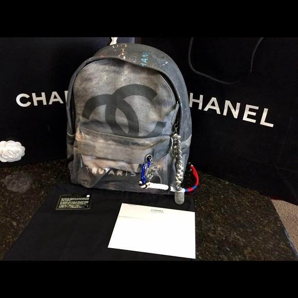 Chanel Bags Sold On Ebaychanel Graffiti Backpack Poshmark
