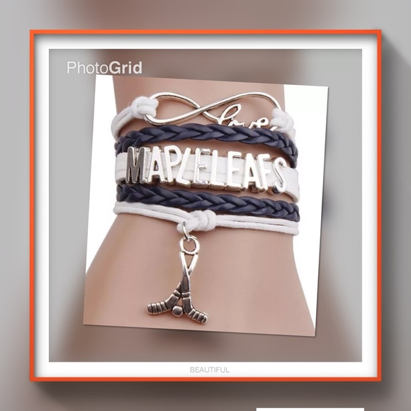 mapleleafs hockey infinity love charm bracelet see 2nd