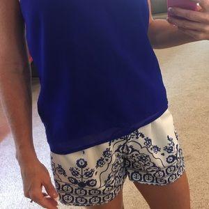 ROMWE Pants - Paisley Dress Shorts