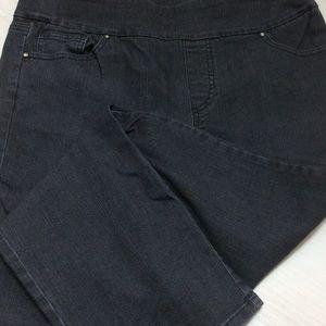 QVC Denim & Co black jeans