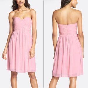 Donna Morgan Dresses & Skirts - Donna Morgan strapless pink bridesmaid dress