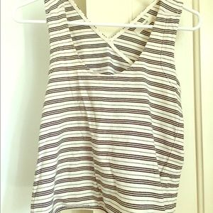 Madewell Crossback Striped Top