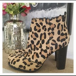 Beverly Feldman Shoes - Beverly Feldman Leopard Pony Hair ankle boots