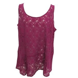 CAbi lace overlay top