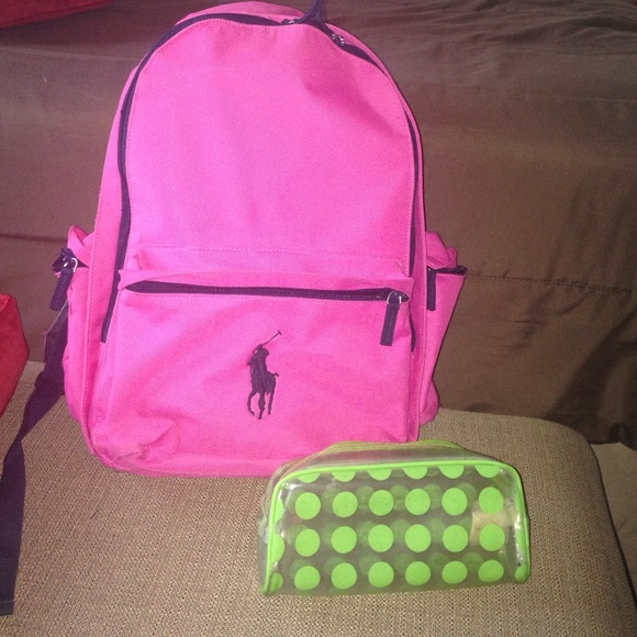 Pink Polo by Ralph Lauren backpack. M 5783f85b36d594b65a00ae6c a680806223a75