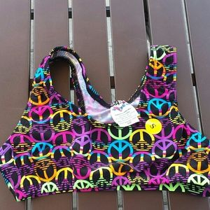 Other - LOWEST PRICE Size Small spandex bra peace signs.