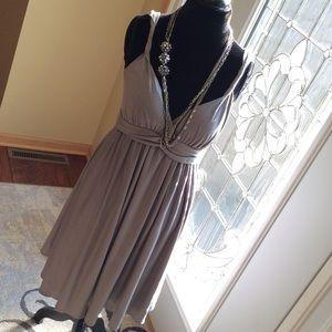 Loft Light Gray Dress