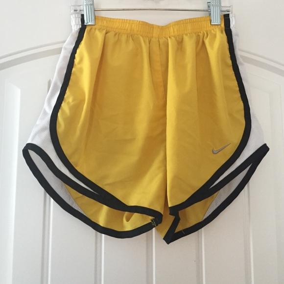 nike shorts yellow