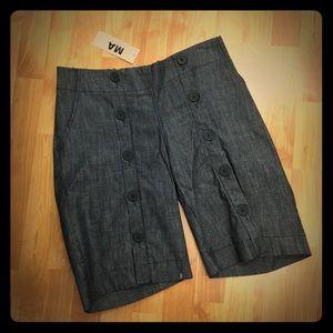 Maternal America Pants - Maternal America Denim Button Shorts S NEW NWT