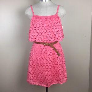 New Pink Crochet Summer Dress