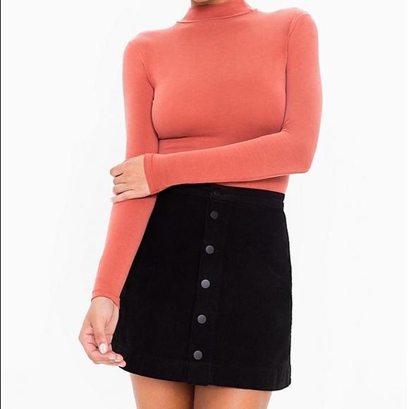 American Apparel Dresses   Skirts - AA Button Front Denim A Line Skirt  Black XS 79dd2ea13