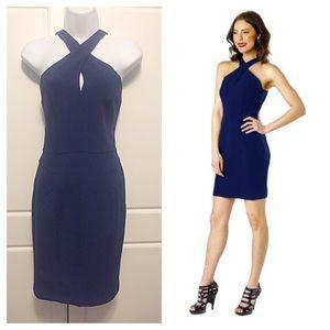 Greylin Dresses & Skirts - Greylin Navy Rai Front Cross Dress