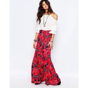 • Free people XS Smooth Sailing Maxi slit skirt •