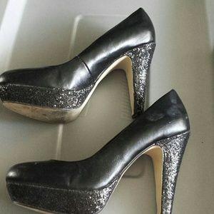Lace Swede Chunky Heel Shoes
