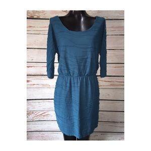 GUESS Los Angeles teal textured dress sz 12