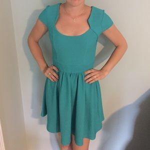 Turquoise Retro Chic Dress