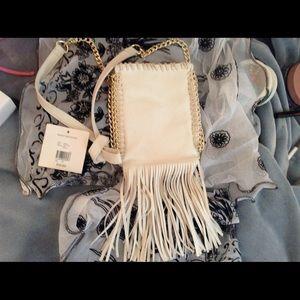Studio Handbags - Beautiful White Fringe Cross Body Bag, HOST PICK🌷