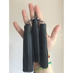 Black Swan Leather Tassel