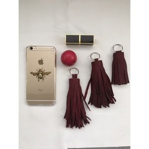 ellebee206 Accessories - Oxblood Leather Tassels
