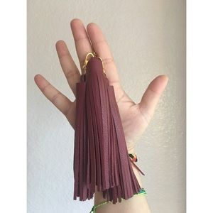 Oxblood Leather Tassels