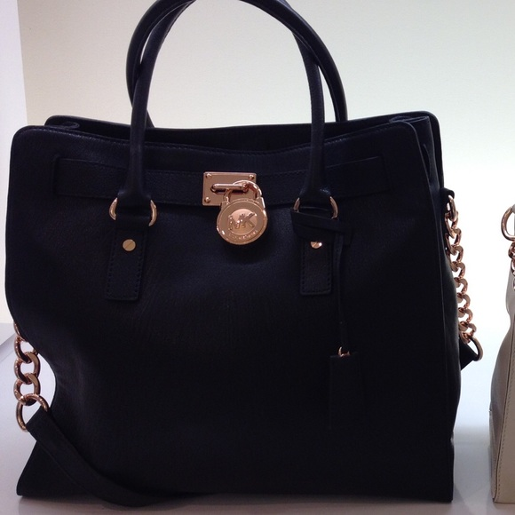 7cebd2ee4336fb Michael Kors rose gold and black Hamilton Bag. M_5784285dbf6df58b31001501
