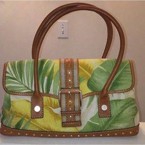 Michael Kors tropical floral print bag NWOT