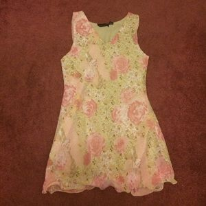 Gorgeous Vintage Pink Flower Dress