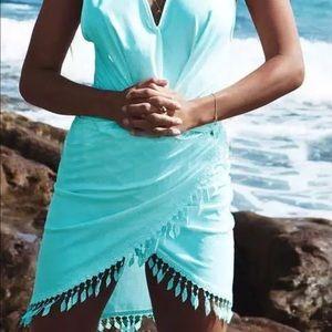 Dresses & Skirts - New Fringe Summer Wrap Beach Dress Swim Coverup