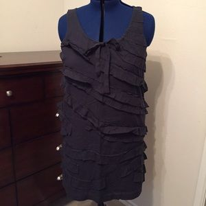 J. Crew cotton ruffle tank dress