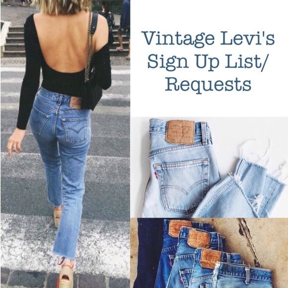 3454db09445 Levi's Other | Vintage Levis Sign Up Listrequests | Poshmark