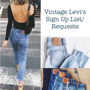 💕🌵Vintage Levi's Sign Up List/Requests🎄💕