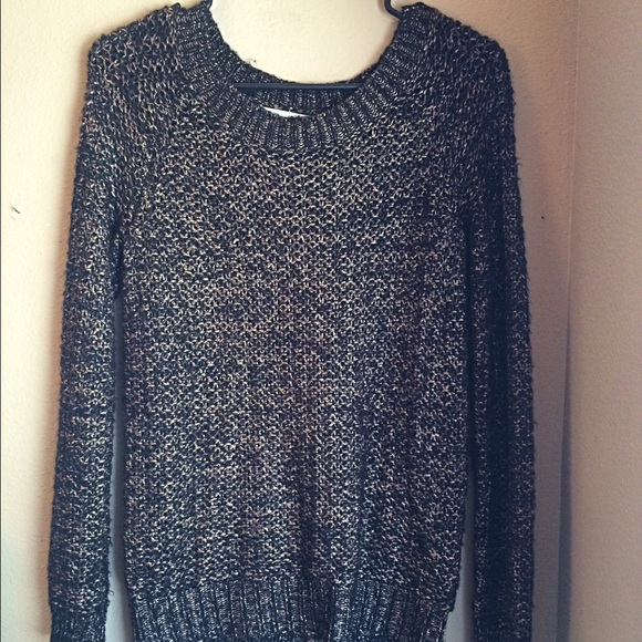 71% off Madewell Sweaters - Wallace (Madewell) Gold/Black Sweater ...