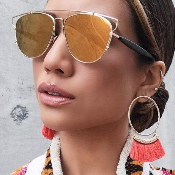 9ef136d8708f Accessories | Black Orange Mirror Aviator Technologic Sunglasses ...