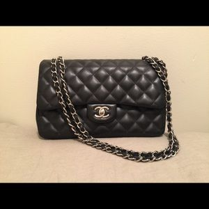 CHANEL LARGE QUILTED LAMBSKIN BAG