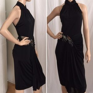 Casadei Dresses & Skirts - Vintage Casadei Black Beaded Cocktail Dress