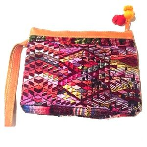 Multicolored Aztec Clutch