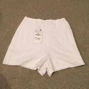 Zara High-waisted cotton shorts