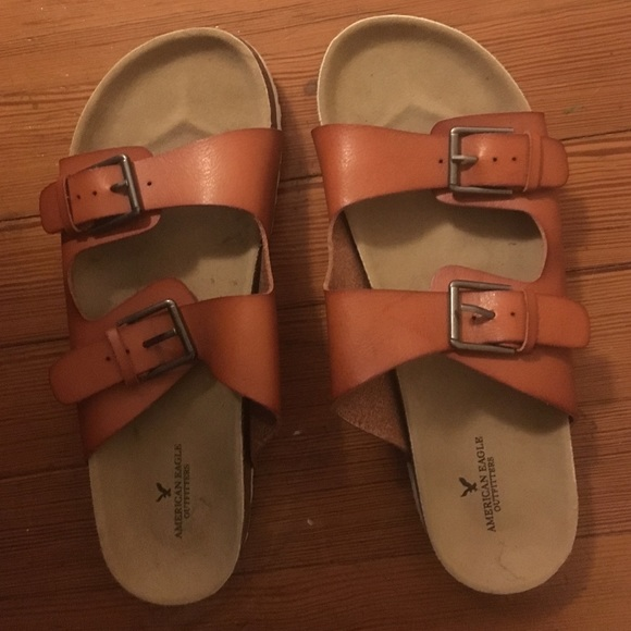 38c99bcb942d American Eagle Outfitters Shoes - Buckle Slide Sandals - fake Birkenstocks  AEO