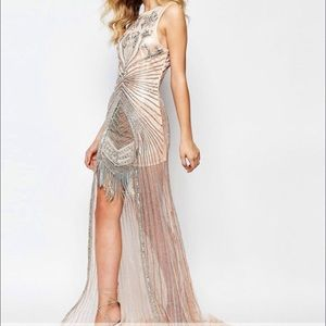 A star Is Born Allover Luxe Overlay Maxi prom