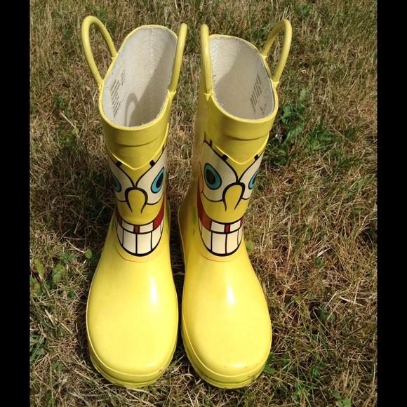 spongebob kids rain boots poshmark