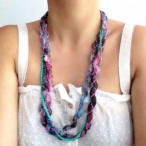 Boho chic layered necklace