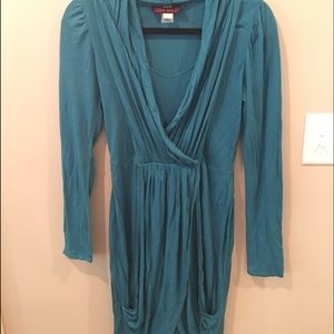 MISS SIXTY brand aqua knit long sleeve dress