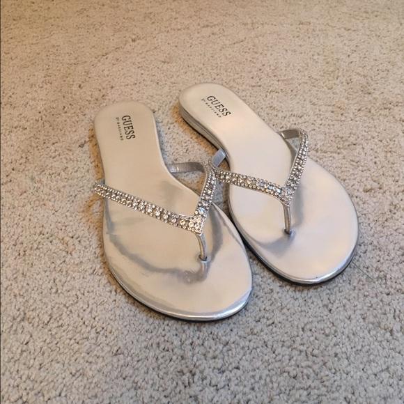 878caf8a2129d3 Guess Shoes - Guess Women s Jasper Embellished Flip Flops